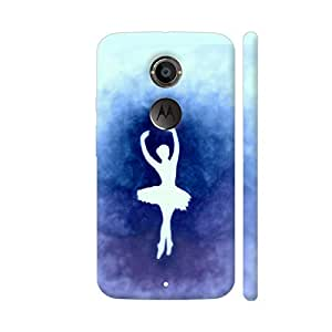 Colorpur Moto X2 Cover - Ballerina Blue Case