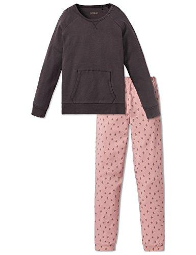 Schiesser Mädchen Anzug lang Zweiteiliger Schlafanzug, Schwarz (Espresso 004), 164 (Herstellergröße: M)