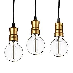 [lux.pro] Hängelampe im Retro-Look - 3er Set - (Messing) Edison Lampenfassung von [lux.pro]® auf Lampenhans.de