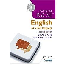 Cambridge IGCSE English First Language Study and Revision Guide (IGCSE Study Guides) (English Edition)