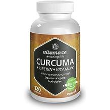 Curcuma + Curcumina Piperina ad alto dosaggio + Vitamina C