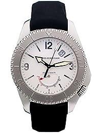 Girard Perregaux Sea Hawk II/reloj para hombre y esfera blanco/caja acero/correa piel negra