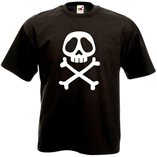 FUNNY SHIRT T-Shirt Tête de Mort albator - Vintage Skull Retro 80's Geek