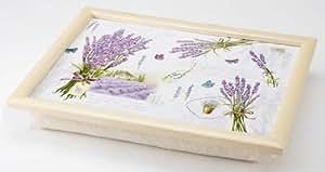 knietablett mit kissen laptray lavendel 43 5 x. Black Bedroom Furniture Sets. Home Design Ideas
