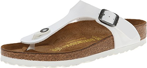 Birkenstock Women's Gizeh Birko-Flor Sandals Patent Open Toe Slingback