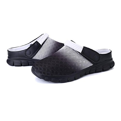 Kootk Adulte Chaussons Hommes Femmes Mules Sabots Chaussures Plage slipers Accueil Décontractée Mode Pente Chaussures Respirant Doux Antidérapant Travail Gargen Sabots 36-46 Noir Blanc