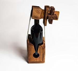 flaschenpuzzle aus edlem holz flaschentresor. Black Bedroom Furniture Sets. Home Design Ideas