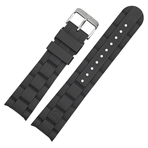 Victorinox Uhrenarmband 22mm Kunststoff Schwarz - Uhrband Set 004229
