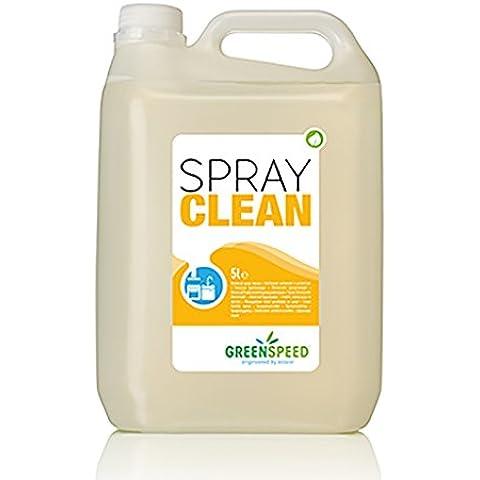 Maya Professional Tools 431020002 Spray Clean Limpiador para Suciedad Leve en Cocinas, Encimeras, sin Perfume, 5 L