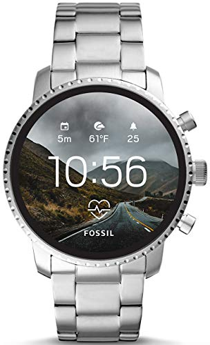 Fossil Mens Smartwatch with Stainless Steel Strap FTW4011