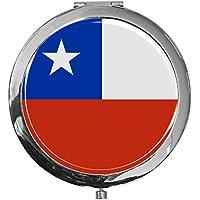"""metALUm - Extragroße Pillendose in runder Form""""Flagge Chile"""" preisvergleich bei billige-tabletten.eu"""