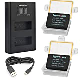 Newmowa LP-E17 Replacement Battery and Dual LCD USB Battery Charger for Canon EOS