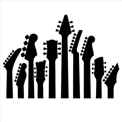 Preisvergleich Produktbild Whwd 57x79 cm guitar pattern rock music lovers bedroom self-adhesive wall stickers