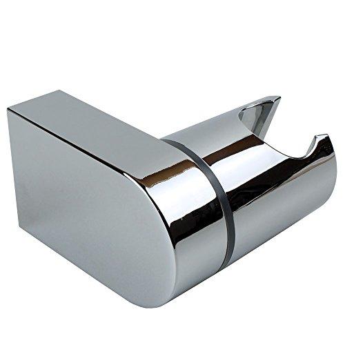 Sanixa JL14SKY Brausehalter - Neigungswinkel verstellbar | ABS verchromt | Wand-Halterung Duschkopf schwenkbar | Wandbefestigung Handbrausen-Halter (Handbrause Wandhalterung)