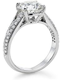 Diamant Ring 2.30 Ct W H/SI2 Round 18 Karat (750) Gelbgold (Ringgröße 48-63)