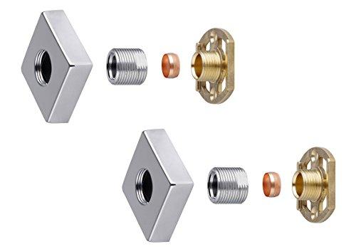 Barre de douche mitigeur thermostatique 3/10,2 cm carré Laiton rapide Easy Fit Kit de fixation