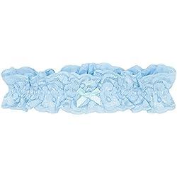 GLAMORY Damen Strumpfhose Garter Strumpfband-Light-Blue-Einheitsgröße, 100 DEN, Blau G-50375, One Size