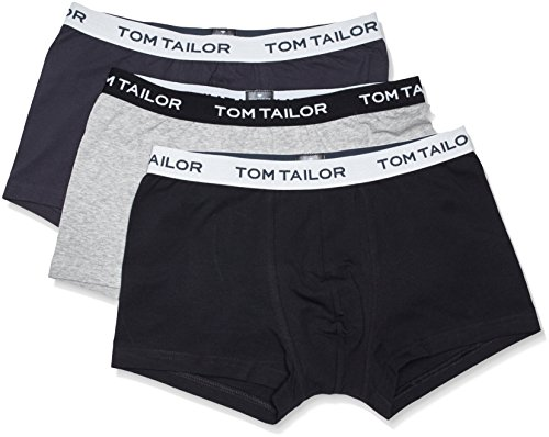 Tom Tailor Underwear Herren Retroshorts, 3er Pack Grau (anthra-melange-black 9300)