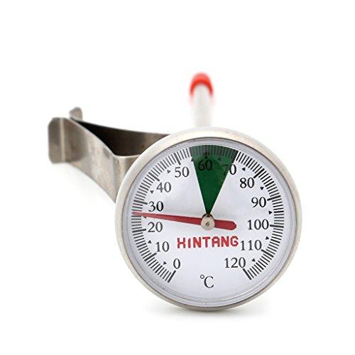 Cuigu Thermometer für Küche, Portativ, aus Edelstahl