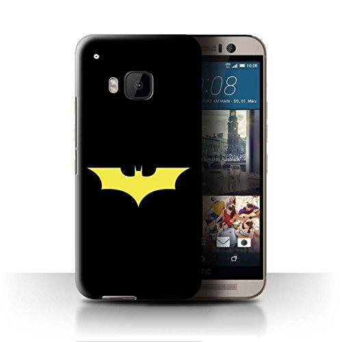 Stuff4® Hülle/Case für HTC One/1 M9/Bat-Signal Inspiriert Muster/Minimalistische Filmkunst Kollektion (M9 Bat)