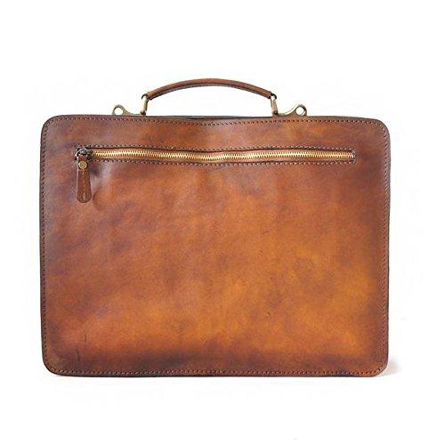 Pratesi Milano italienischen Leder-Aktentasche Business-Tasche (rot) rot