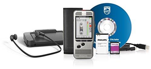 Philips DPM7700 Starter-Set (neue Version), bestehend aus Diktiergerät DPM7200 und Wiedergabe Set LFH7177