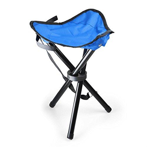 Duramaxx mobiler Campingstuhl • Angelsitz • Klappstuhl • schnell auf- und zusammenklappbar • Klettverschluss • integrierter Tragegriff • Stahl • 500 Gramm • 42 x 6 cm • bis max. 80 kg • blau-schwarz