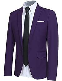 Amazon Giacche E Abbigliamento Abiti it Uomo Viola rRZnWrBI