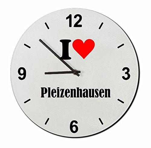 """Exklusive Geschenkidee: Glasuhr """"I Love Pleizenhausen"""" eine tolle Geschenkidee die von Herzen kommt- Uhr- Weihnachts Geschenktipp"""