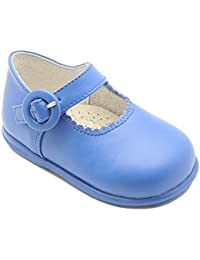 Caminito 1E0616 - Zapato de piel para niña, color camel.