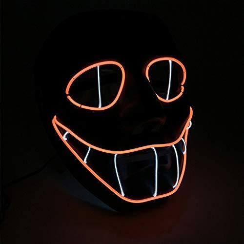 Eyes Für Snake Kostüm Erwachsene - FENGMM LED Halloween leuchtende Maske, Maskerade leuchtende Requisiten Musik Party Maske Cosplay Maske DJ und Festival Party