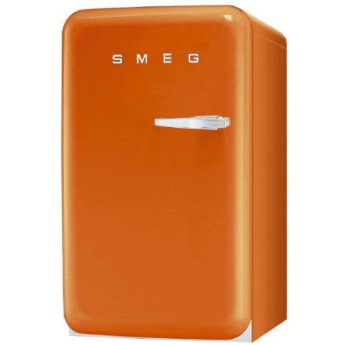 Smeg FAB10LO Standkühlschrank mit Gefrierfach / Linksanschlag / Kühlteil 101 Liter / Gefrierfach**** 13 Liter / orange