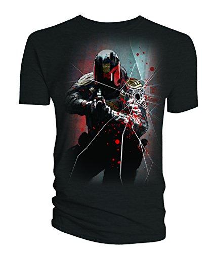 Titan 2000AD Mens T-Shirt Judge Dredd Movie Underbelly Comic Art