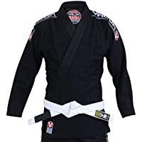 Valor Bravura Anzug für Brasilianisches Jiu-Jitsu (BJJ-Gi), schwarz mit weißem Gürtel