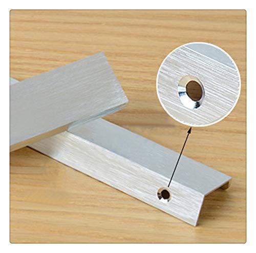 Versteckt Griff (Kfz versteckte Griffe und Aluminium bushed-Finish, cavinet für die Küche Schrank Tür Schublade Pull mit-, Möbel-Griffe, moderner minimalistischer, silber)