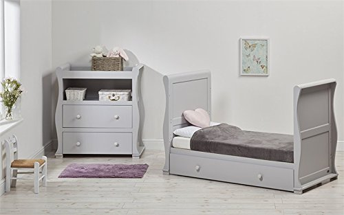 East Coast Alaska Sleigh 2 Piece with Luxury ECO Fibre Mattress - Grey East Coast  4
