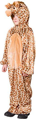 Giraffe Kinder Kostüm - Kinder Kostüm Giraffe Overall Karneval Fasching Gr.140/152