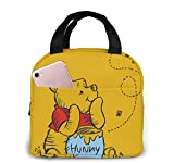 Palasyger Pranzo al Sacco Tote Winnie The Pooh Lunchbox Isolato Lunch Cooler Box Pasto Contenitori per Donna Uomo Bambini