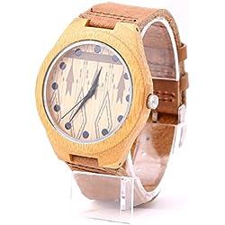 mercimall® Herren schöne Uhr, die Casual Holz Armbanduhr Earth Bambus Holz umweltfreundlich Uhren