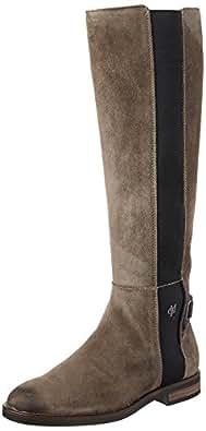 Marc O'Polo Flat Heel Long Boot 70814228001304, Stivali Donna, Marrone e (Taupe), 36 EU