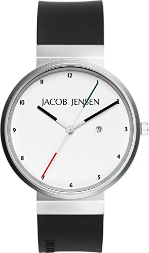 Jacob Jensen Unisex-Adult Analogue Quartz Watch with Rubber Strap JJ703