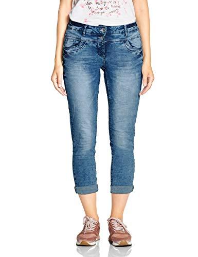 Cecil Damen 372402 Scarlett Loose Fit Straight Jeans, Blau (Authentic Used wash 10239), W34/L28 (Herstellergröße:34)