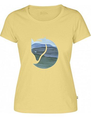 Fjällräven Damen Watercolour Fox W Blusen & T-Shirts Pale Yellow