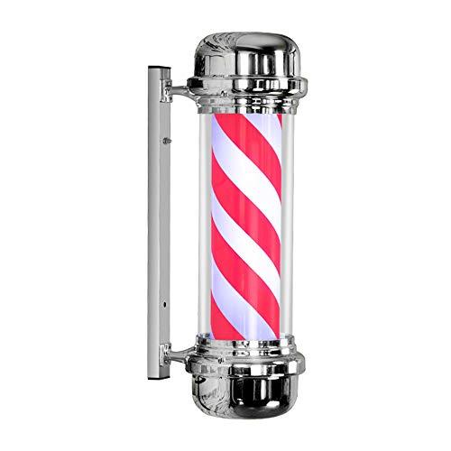 Poste De Barbero Rotación E Iiluminación Material De Tubo De PC Impermeable Al Aire Libre Luces LED 75Cm Rojo Blanco Y Azul Rayas,D