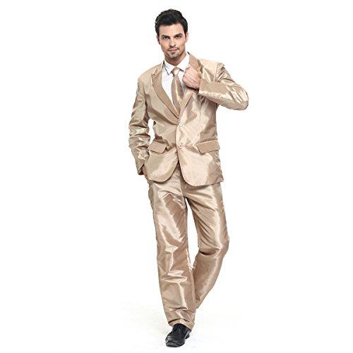 (U LOOK UGLY TODAY Herren Anzug Party Weihnachts Kostüm Modisch Normaler Schnitt Festliche Anzüge Party Suits Einfarbig)