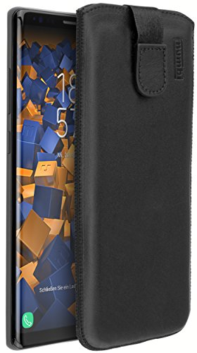 mumbi Echt Ledertasche kompatibel mit Samsung Galaxy Note 8 Hülle Leder Tasche Case Wallet, schwarz