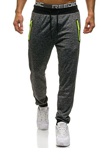 Army Military Pants (BOLF Herren Hose Trainingshose Sporthose Army Military Muster RED FIREBALL W1325 Schwarz XXL [6F6])