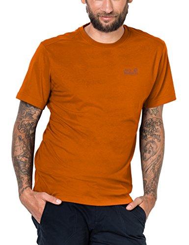 Jack Wolfskin Herren Essential T-Shirt, Desert orange, XXL