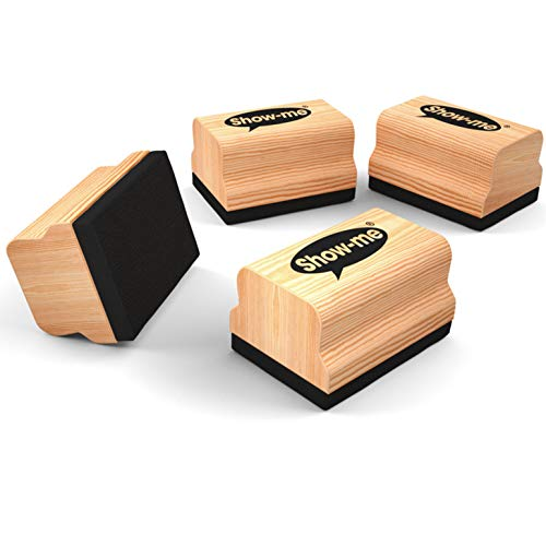 Show-me Mini Wooden Handled Erasers, 30