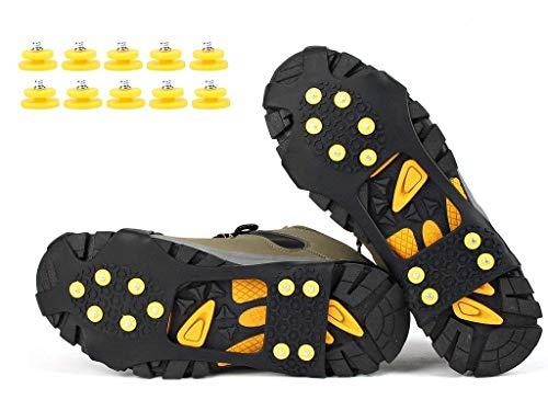 VICWARM Racos de Hielo Tracción Antideslizante Más de Zapatos/para 10 Tacos Nieve...